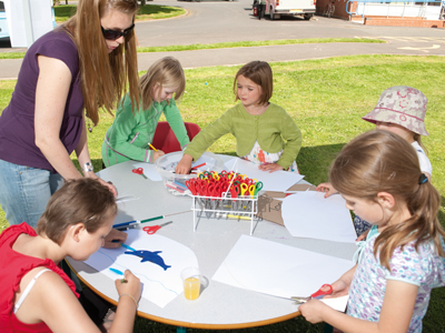 Childrens art workshop