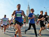 Marathon runners on the road